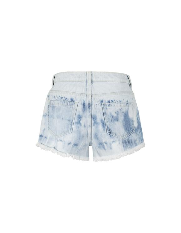 Short Bleu Délavé Destroy