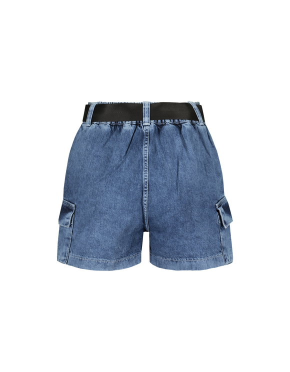 Denim Destroyed Cargo Shorts