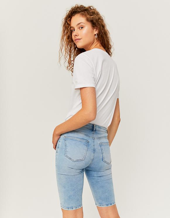 High Waist lange Denim Shorts