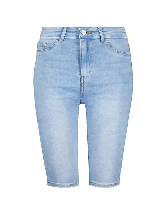 High Waist lange Denim Shorts