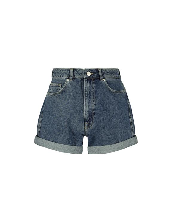Roll Up Denim Shorts