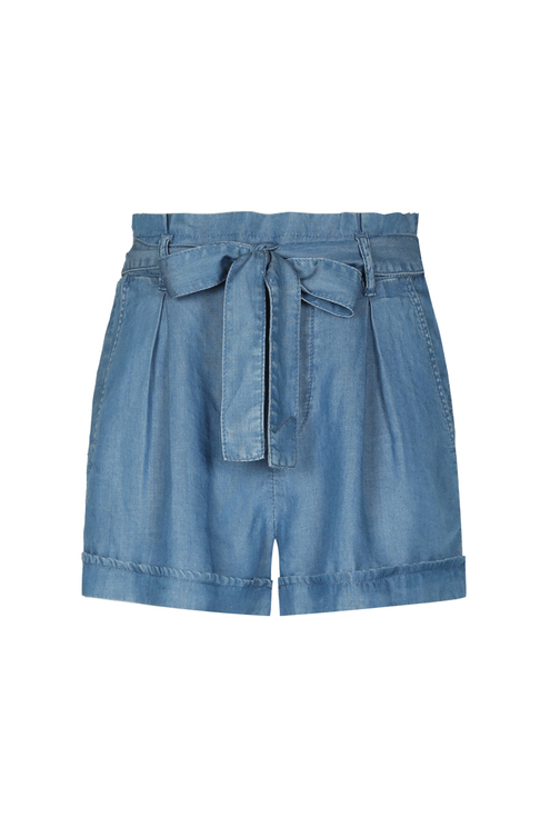 Pantaloncini in Denim con Cintura