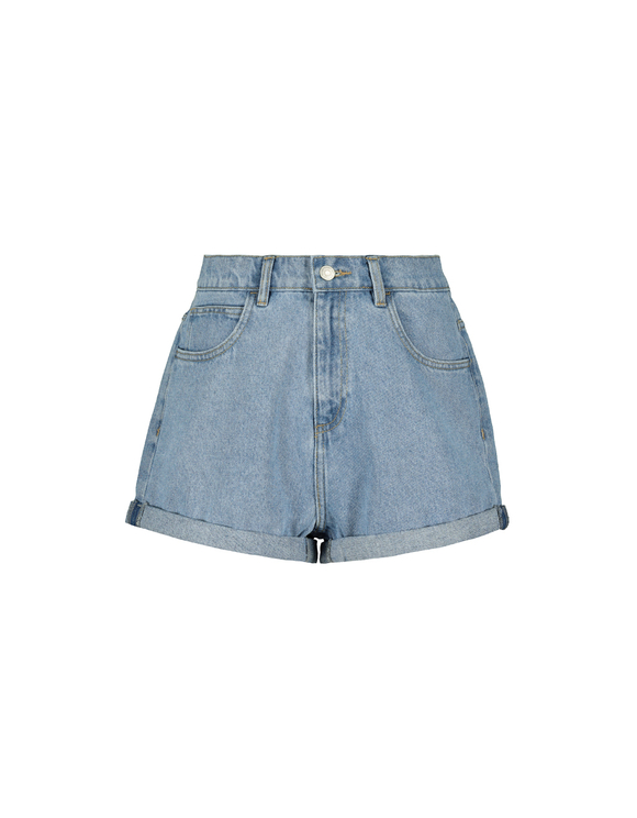 High Waist Denim Mom Shorts