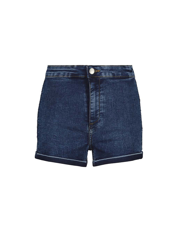 Elastische Denim Shorts