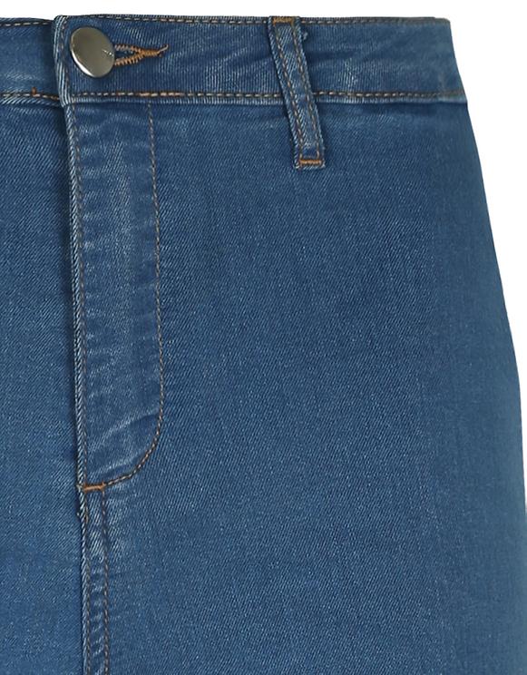 Blue Skinny Shorts
