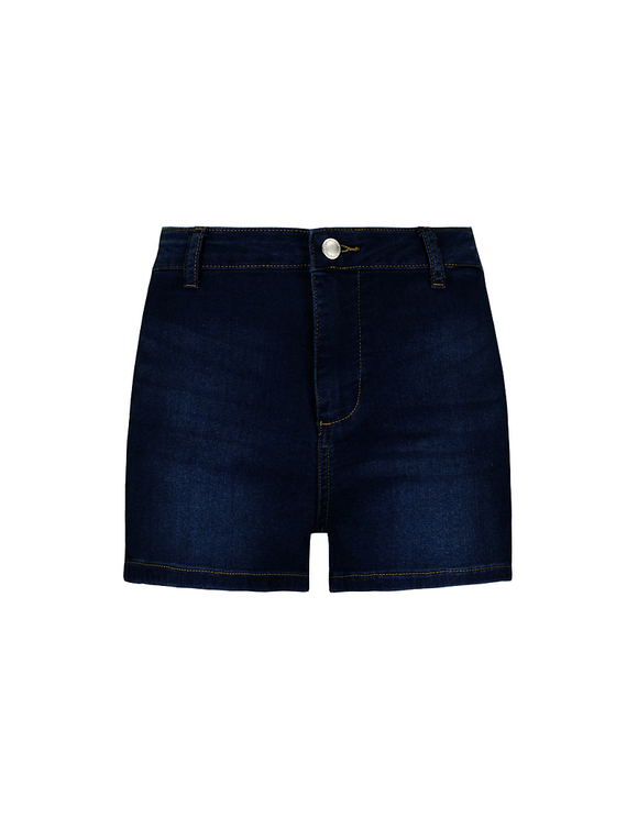 High Waist Skinny Denim Shorts