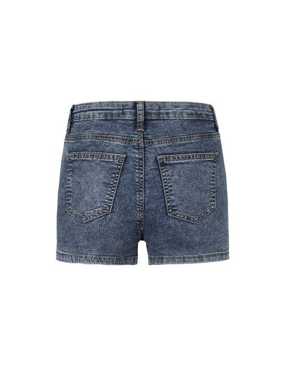 Skinny High Waist Denim Shorts