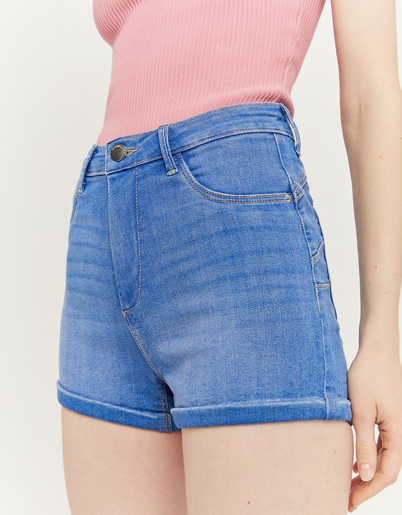 Blue Denim Mini Shorts