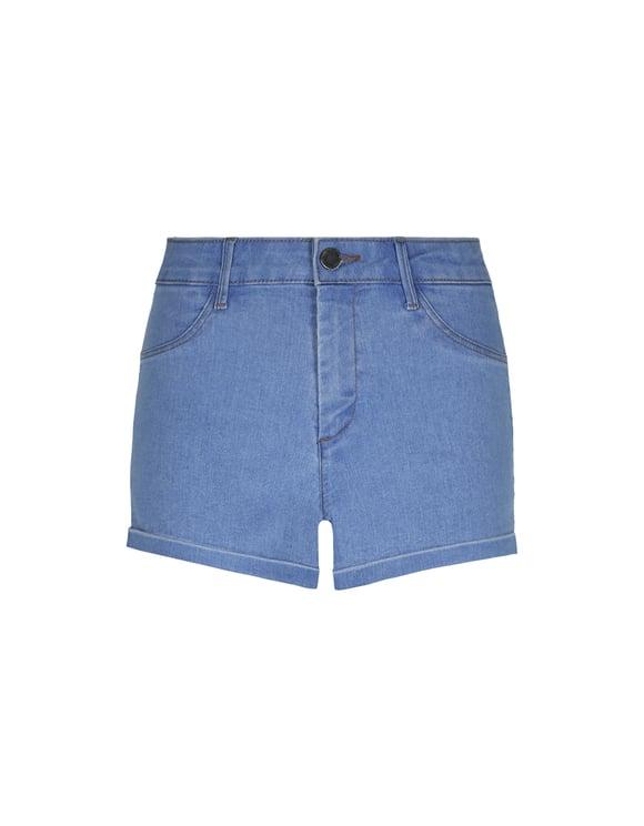Hellblaue Push-Up Denim Shorts