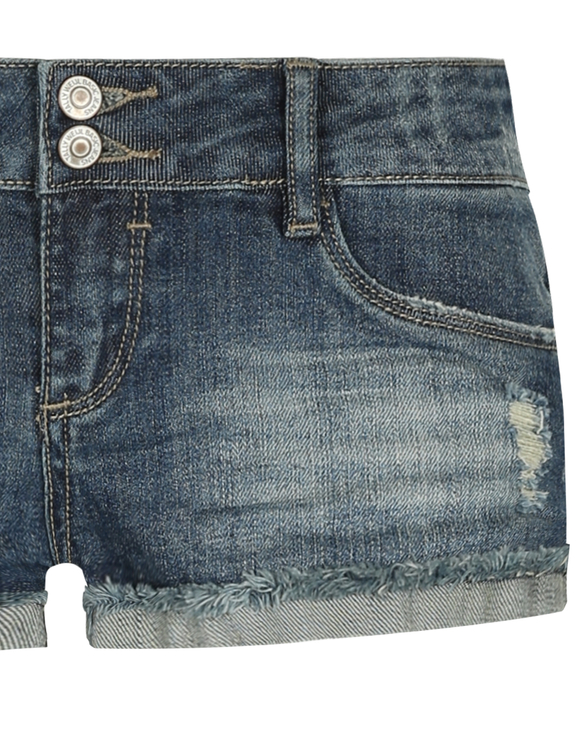 Blauverwaschene Denim Shorts