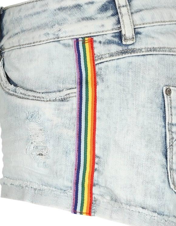 Side Stripe Mini Shorts
