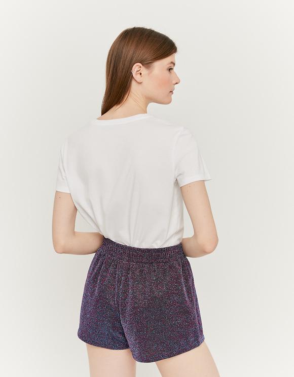 Purple Lurex Shorts