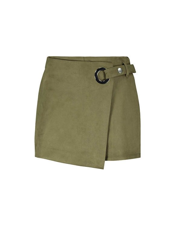 Zielone spódnico-spodnie z paskiem