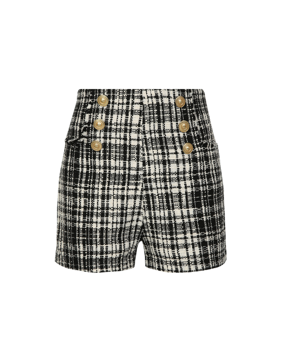 Monochrome Tweed Short