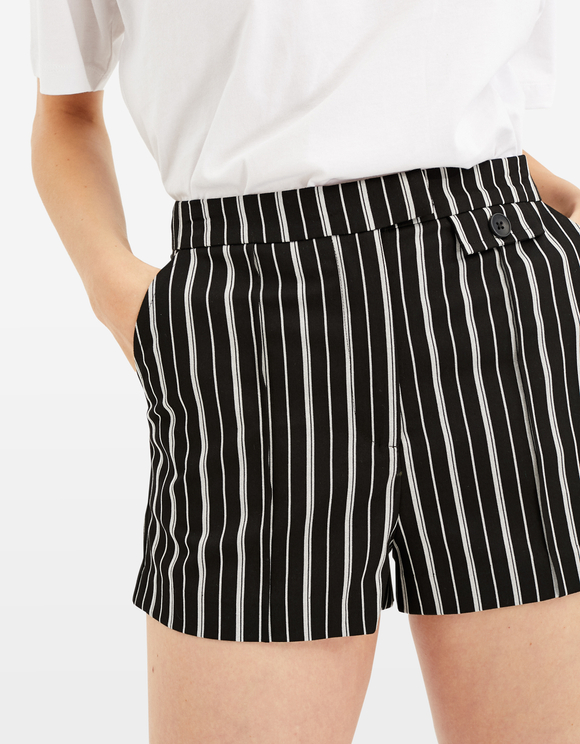 Striped Tailored Shorts