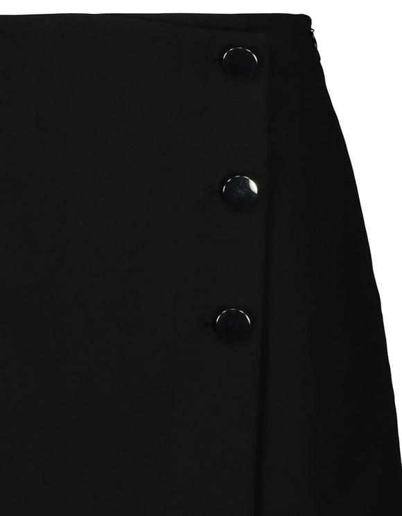 Jupe Short Noire Boutons sur le Côté