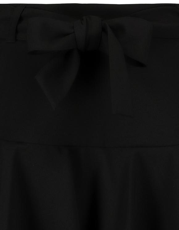 Czarna spódnico-spodnie z falbanką