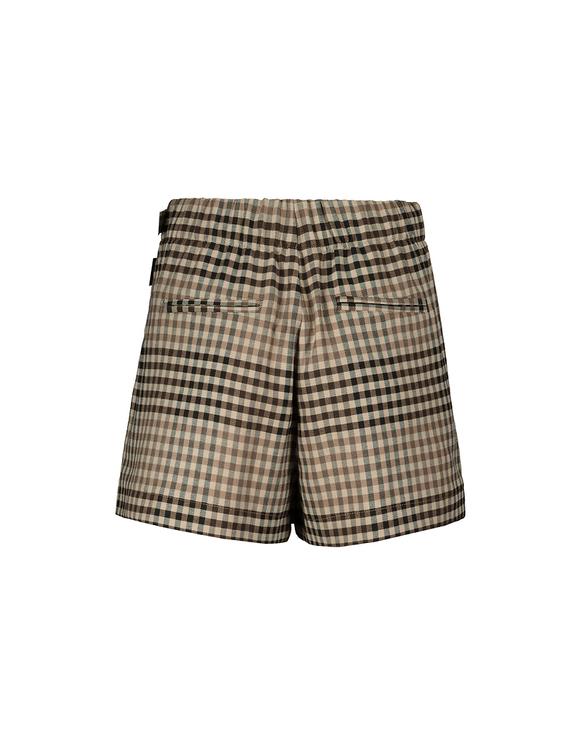 Beżowe spódnico-spodnie w kratkę
