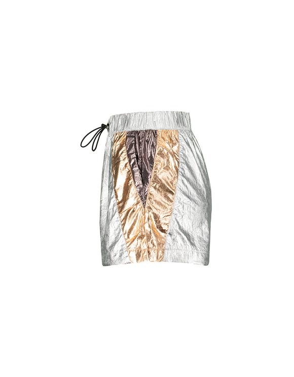 Graue Sporty-Shorts