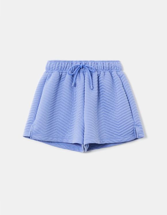 Short de Sport Bleu Gaufré