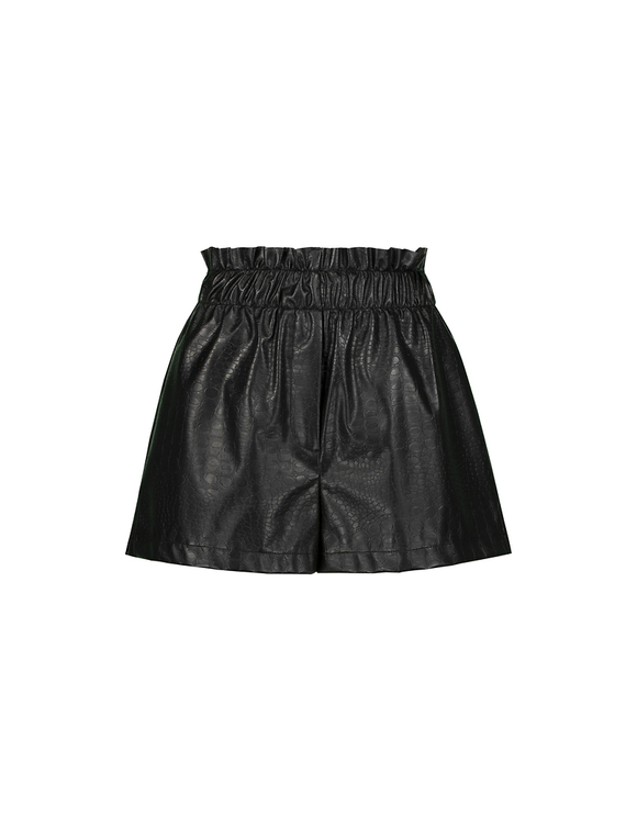 Short Noir en Similicuir