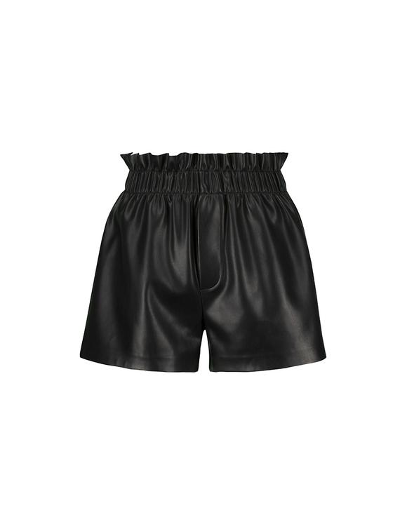 Pantaloncini Neri in Similpelle