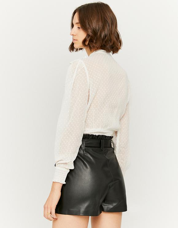 Schwarzer Faux Leather Skort