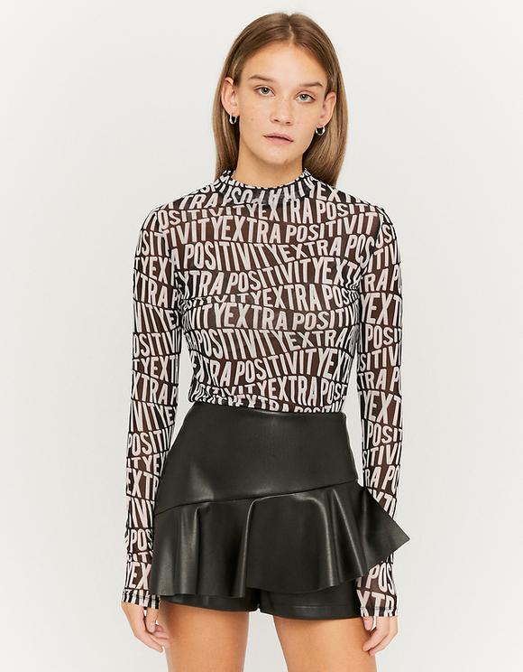 Schwarze Shorts aus Kunstleder
