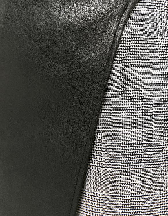 Two-Fabric Skort