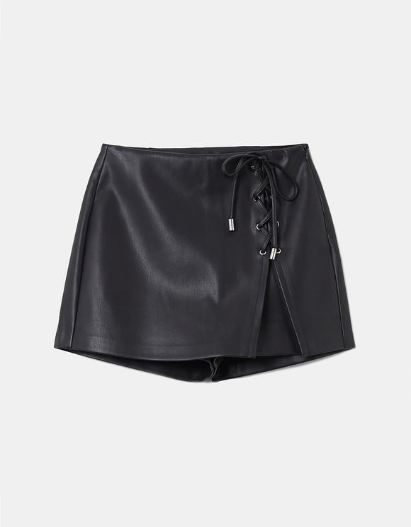 Black Skort with Lacing