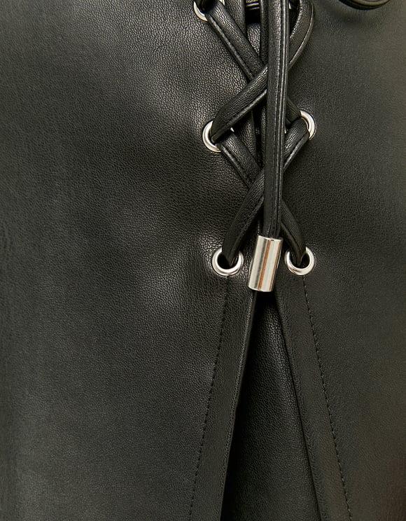 Black Skort with Lacing