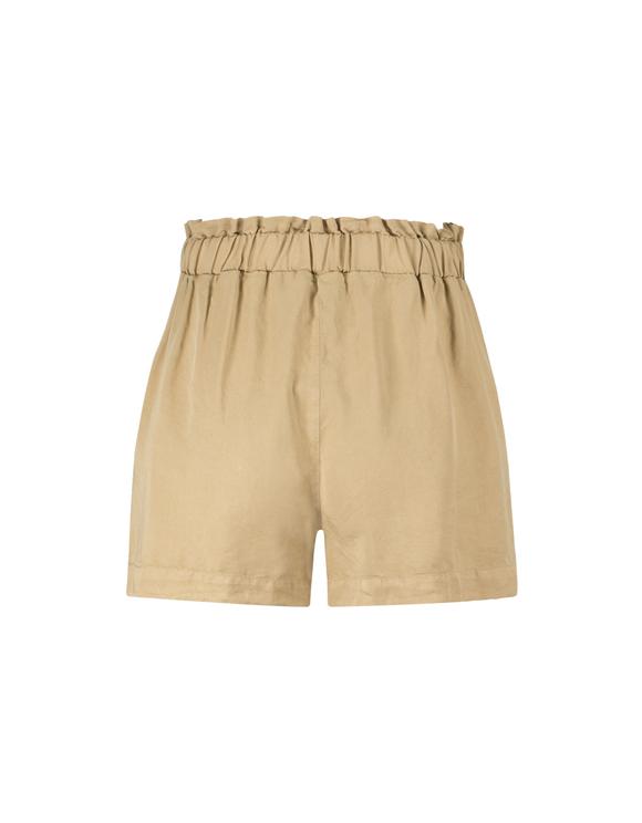 Beige Paperbag Shorts