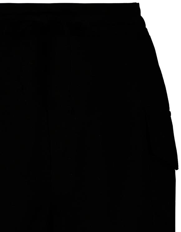 Black Cargo Shorts with Drawstring