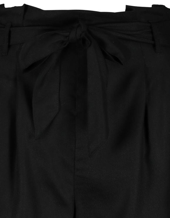 Czarne szorty paperbag