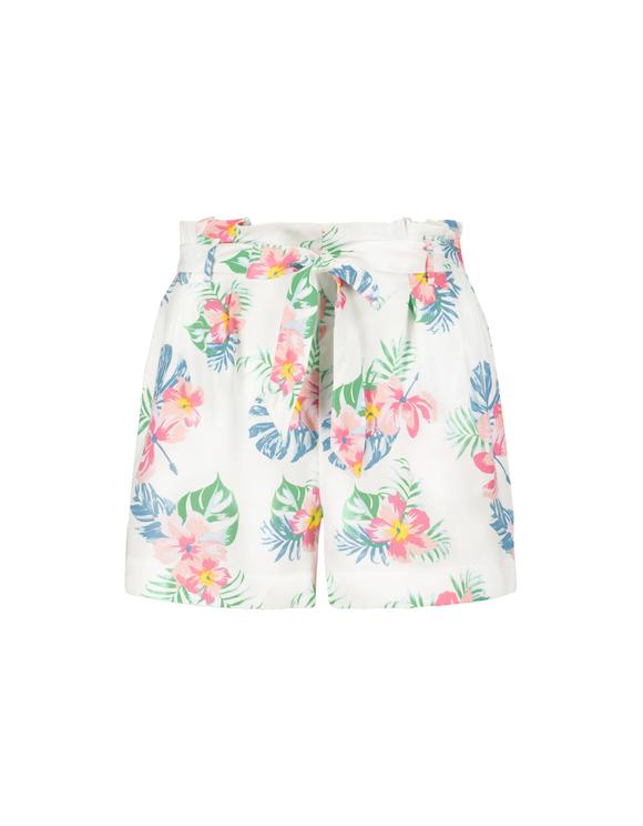 Paperbag Floral Shorts