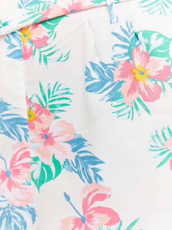 Szorty w kwiaty - Paperbag