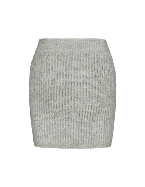 Grey Pointelle & Cable Knit  Skirt