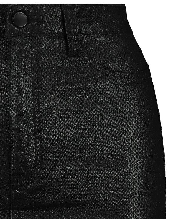 Jupe Noire Taille Haute Imprimé Serpent Vinyl