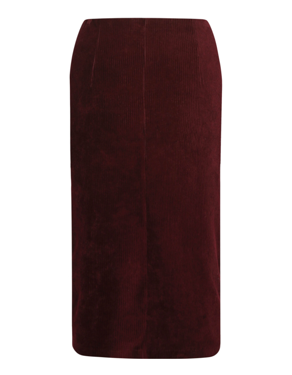 Burgundy Pencil Skirt