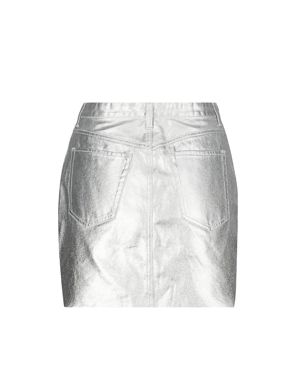 Silver A-line Skirt