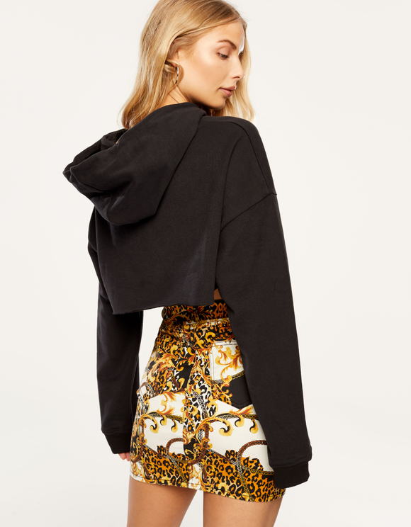 Baroque Denim Skirt