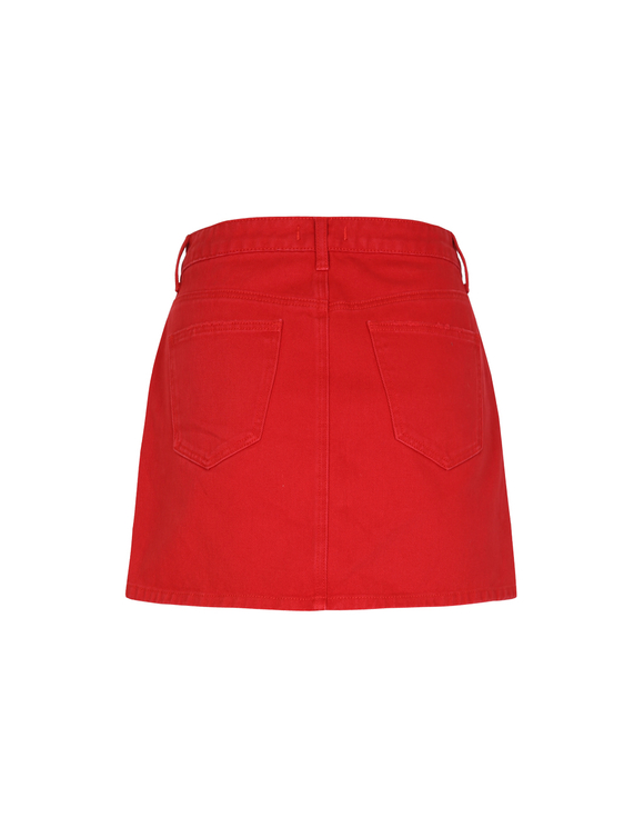 Red Destroy Skirt