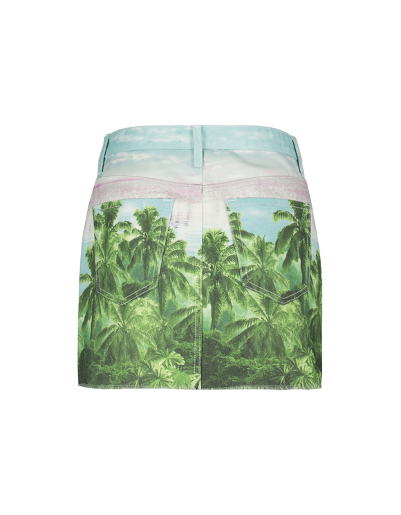 Tropical Denim Skirt