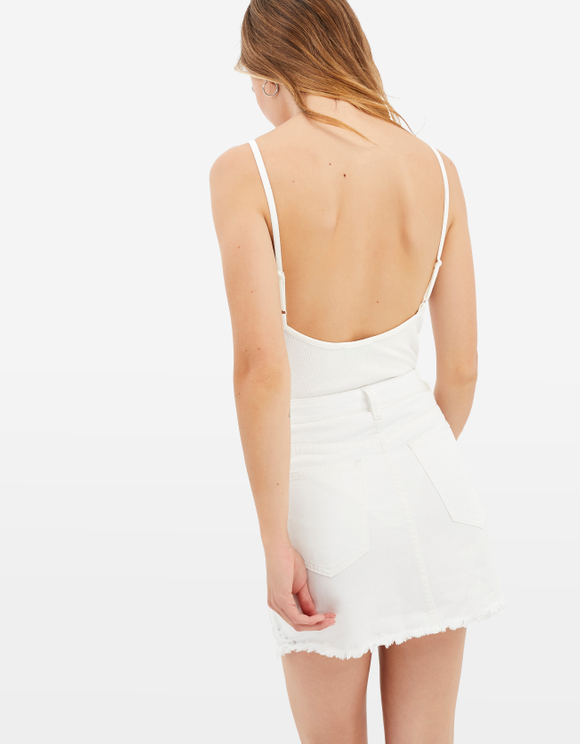 White Zipped Skirt