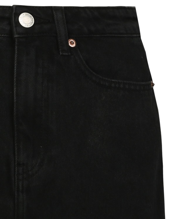 Black Denim Skirt