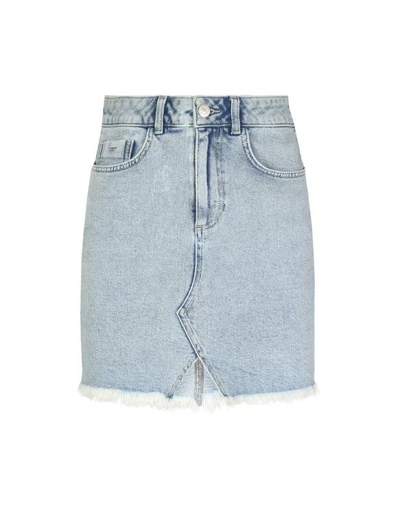 Jeansowa spódniczka z wycięciem