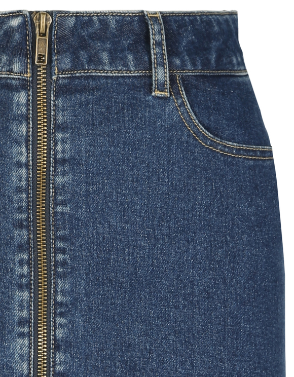 Denim Zip Skirt