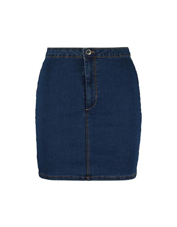 Denim High Waist Fitted Skirt