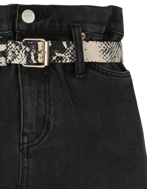 High Waist Denim Rock