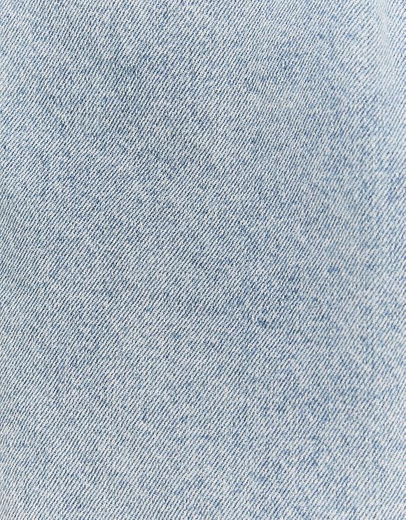Paperbag Denim Skirt